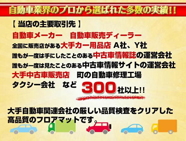 自動車業界のプロから選ばれた多数の実績!!