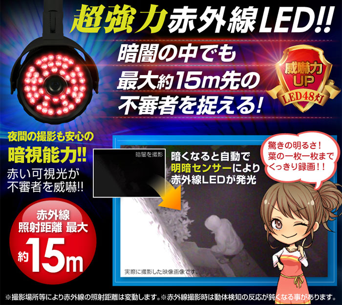 赤外線LED搭載