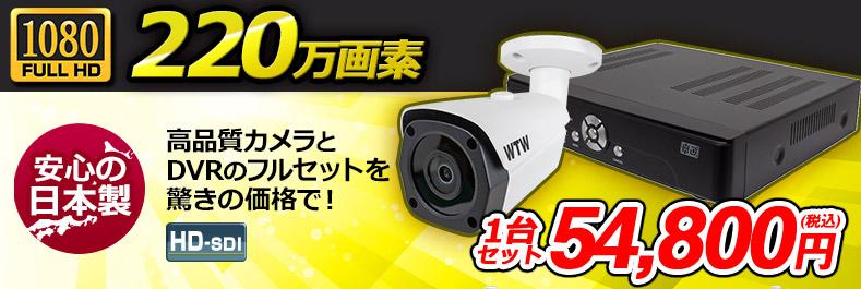 デジタル放送規格SDIカメラ1台と録画機のセット!
