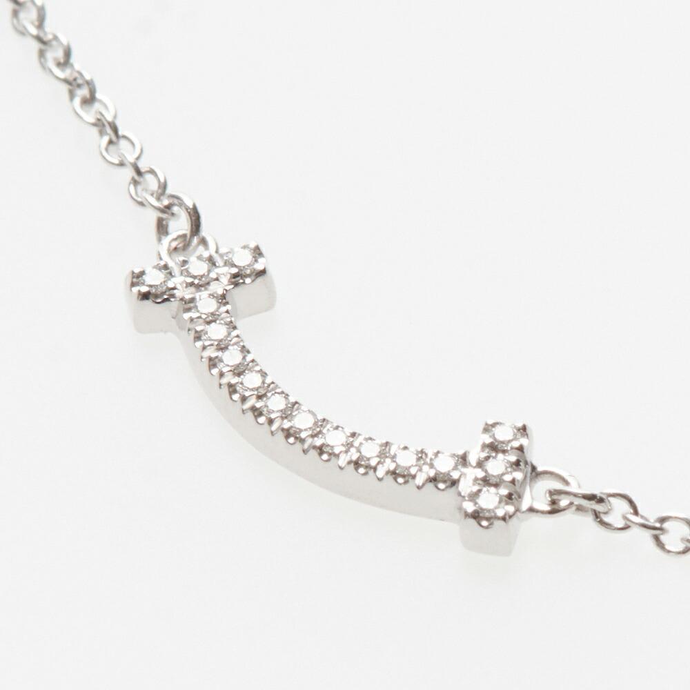 buy popular 2da59 5708b ティファニー TIFFANY ネックレス Tスマイル マイクロ 62617802 ペンダント 18K ダイヤモンド 0.03ct  ホワイトゴールド【acl】
