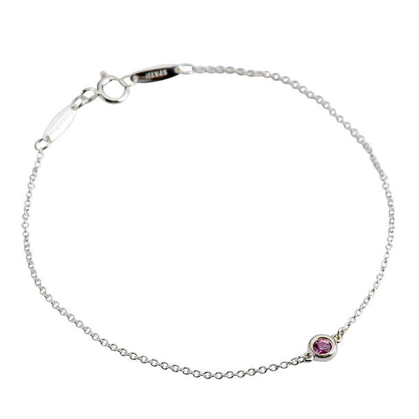 57149f57f Tiffany bracelet TIFFANY color visor yard bracelet pink sapphire 0.08ct  silver 25392906 ...