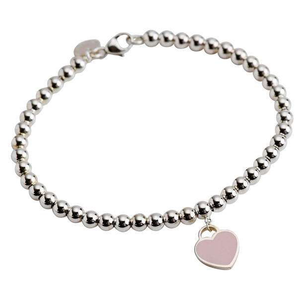 78f0d56621e2 Tiffany bracelets TIFFANY Tiffany return to mini heart tags Bead Bracelet  pink enamel silver 30978811 Tiffany co.  Tiffany