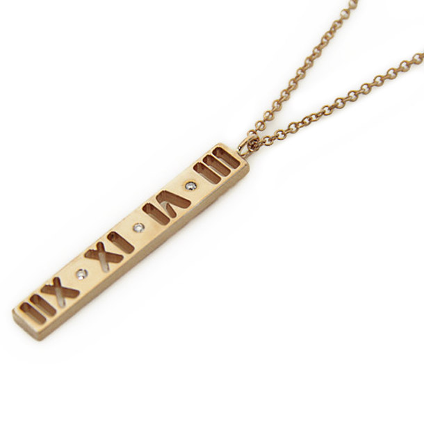 ティファニー ネックレス TIFFANY 30480538 18R アトラス バー ペンダント ダイヤモンド 41cm ローズゴールド アトラス