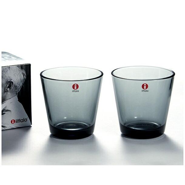 イッタラ カルティオ グラス タンブラー ペア 210ml グレー IITTALA 950460