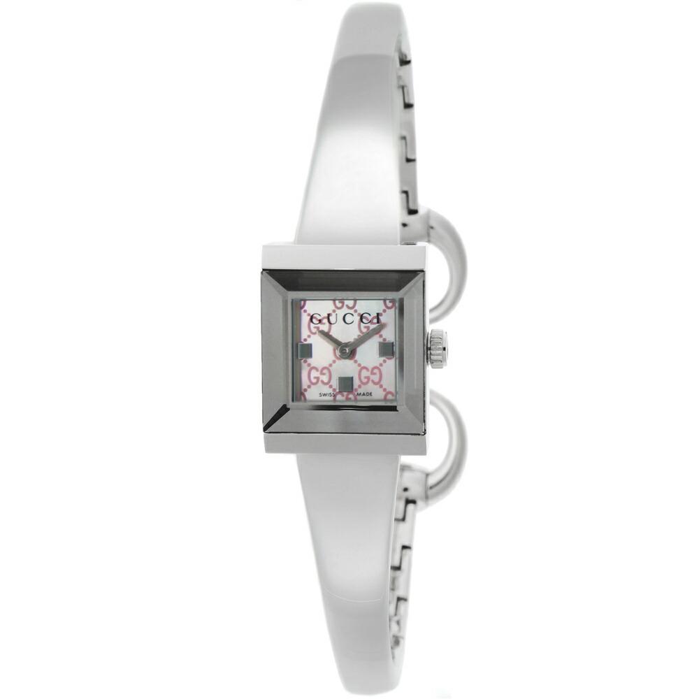 グッチ 時計 レディス時計 Gフレーム ピンクシェル YA128516 GUCCI