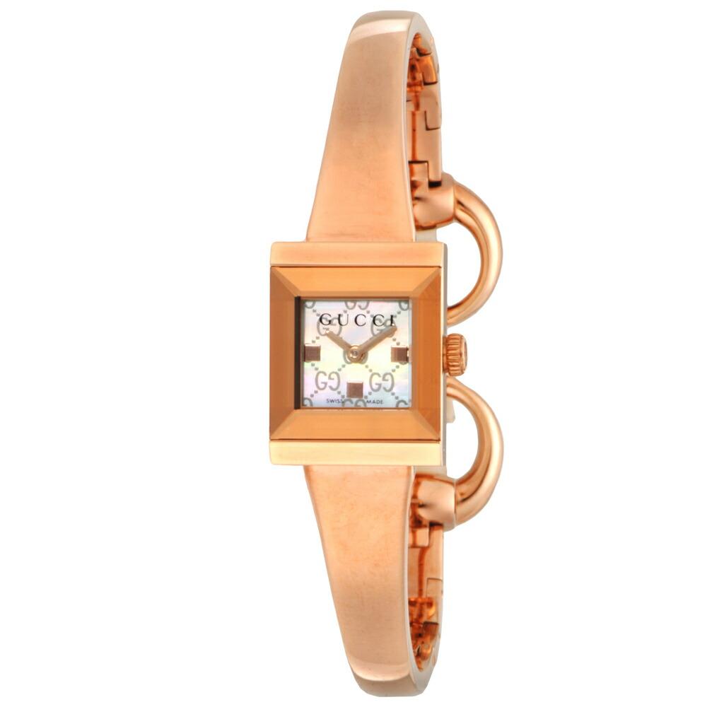 グッチ 時計 レディス時計 Gフレーム ホワイトシェル YA128517 GUCCI