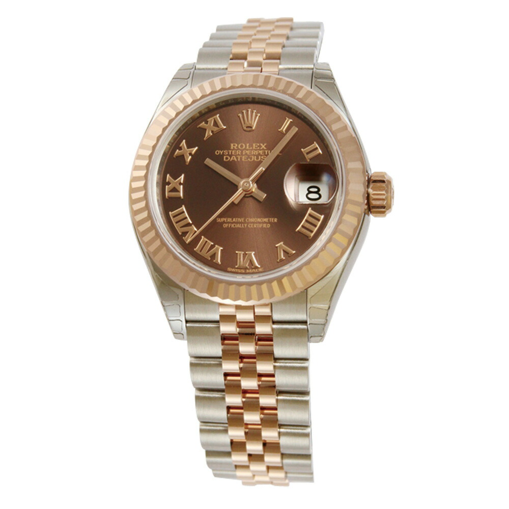 e811641700 ロレックス ROLEX 腕時計 レディースウォッチ デイトジャスト28 279171 チョコレートローマン文字盤 レディース