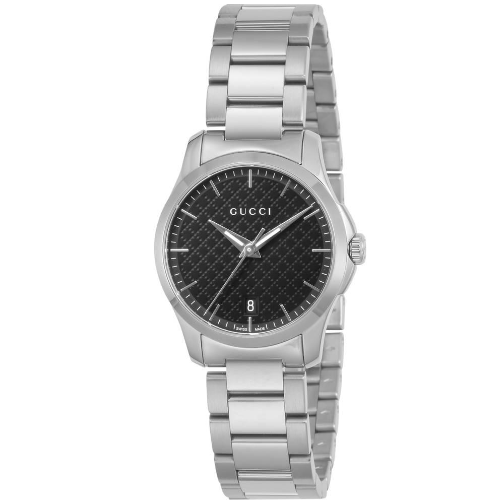 new products 0d50f c6cbc グッチ GUCCI 腕時計 レディースウォッチ YA126592 【Gタイムレス】 ブラック【lwc】