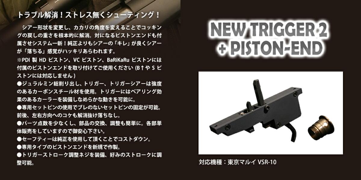 ニュートリガー2エンドセット / 東京マルイ VSR-10用