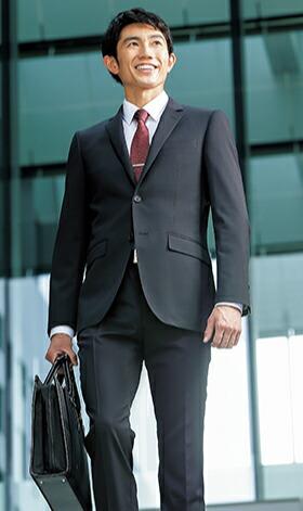 【就活】【ネイビー無地】【ストレッチ】【ツーパンツ】スタイリッシュスーツ
