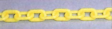プラスチックチェーン 蛍光黄