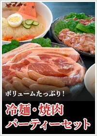 ボリュームたっぷり!冷麺・焼肉パーティーセット