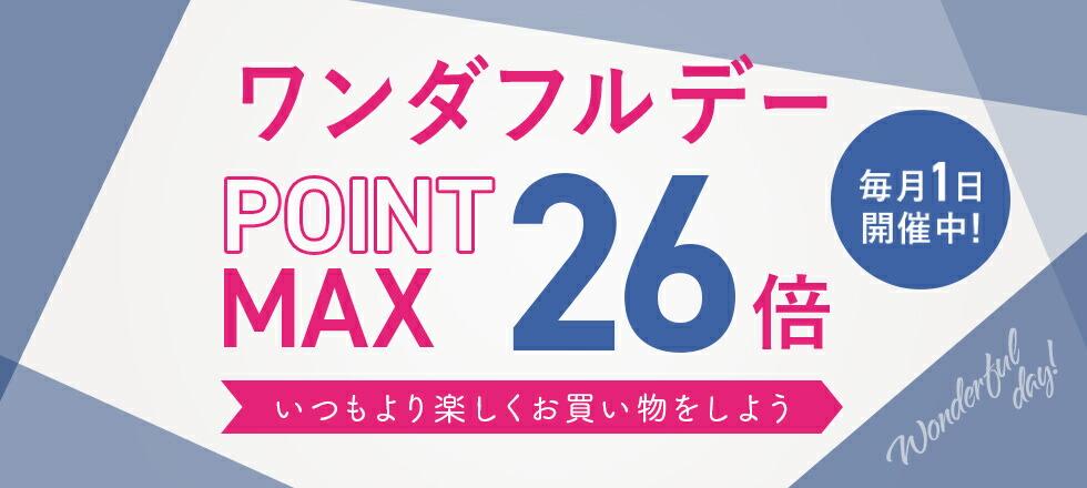 6/1 ポイント最大26倍 毎月1日限定!ワンダフルデー!