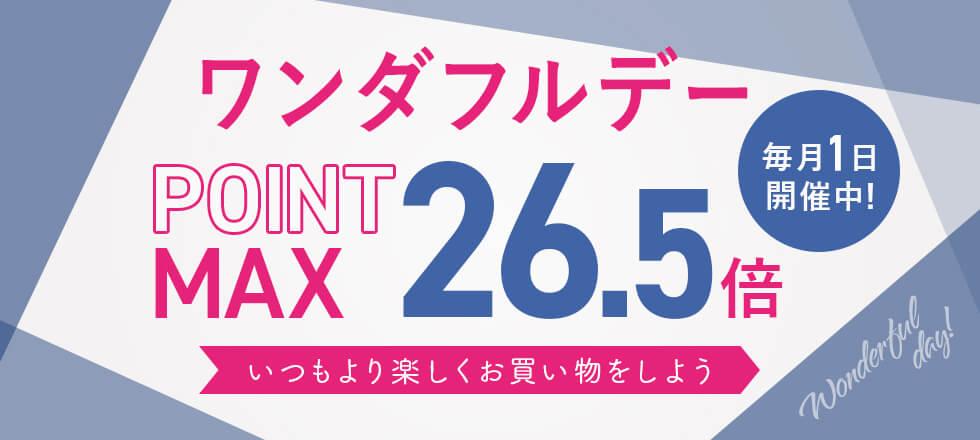 9/1 ポイント最大26.5倍 毎月1日限定!ワンダフルデー!