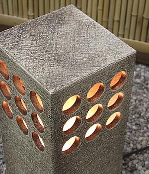 庭園灯 照明 ガーデンライト 屋外用照明 しがらきやき 陶器照明