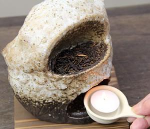 茶香炉 信楽焼 ちゃこうろ 陶器アロマポット