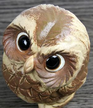 ふくろう置き物 陶器フクロウ 信楽焼