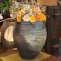 古陶変形花瓶