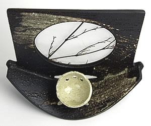信楽焼き花瓶 やきもの花入れ 陶器花器 しがらき つぼ 一輪ざし