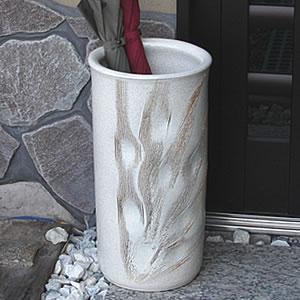 白クシ目彫り