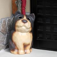 イヌの傘立て