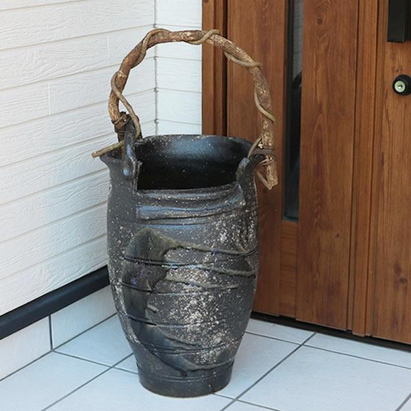 傘立て 陶器傘立て かさたて しがらき 陶器 傘入れ つぼ