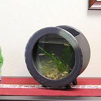 陶器水槽丸型(茶色)