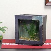 陶器水槽角型(茶色)