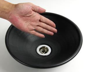 陶器洗面ボウル 手水鉢 しがらきやき手洗器