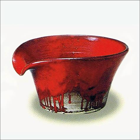 しがらき焼 吐水口 陶器の湯こぼし