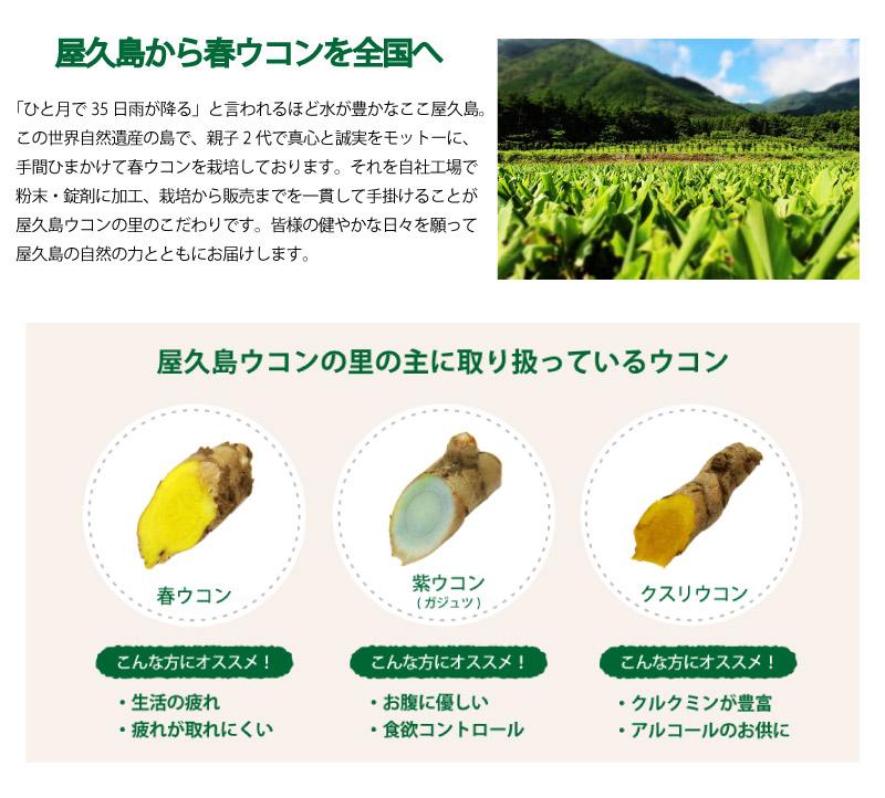 新トップページ/屋久島からウコンを全国へ 取扱ウコン