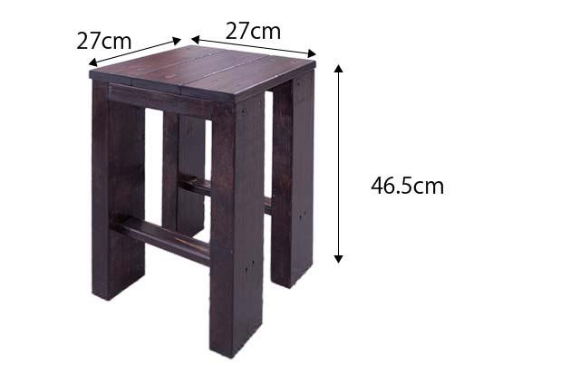 椅子 全体寸法27cm、27cm、46.5cm