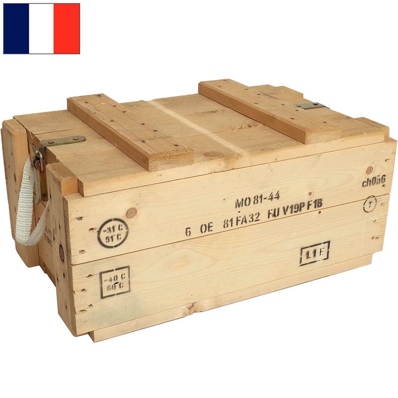 フランス軍 アンモボックス ウッド USED