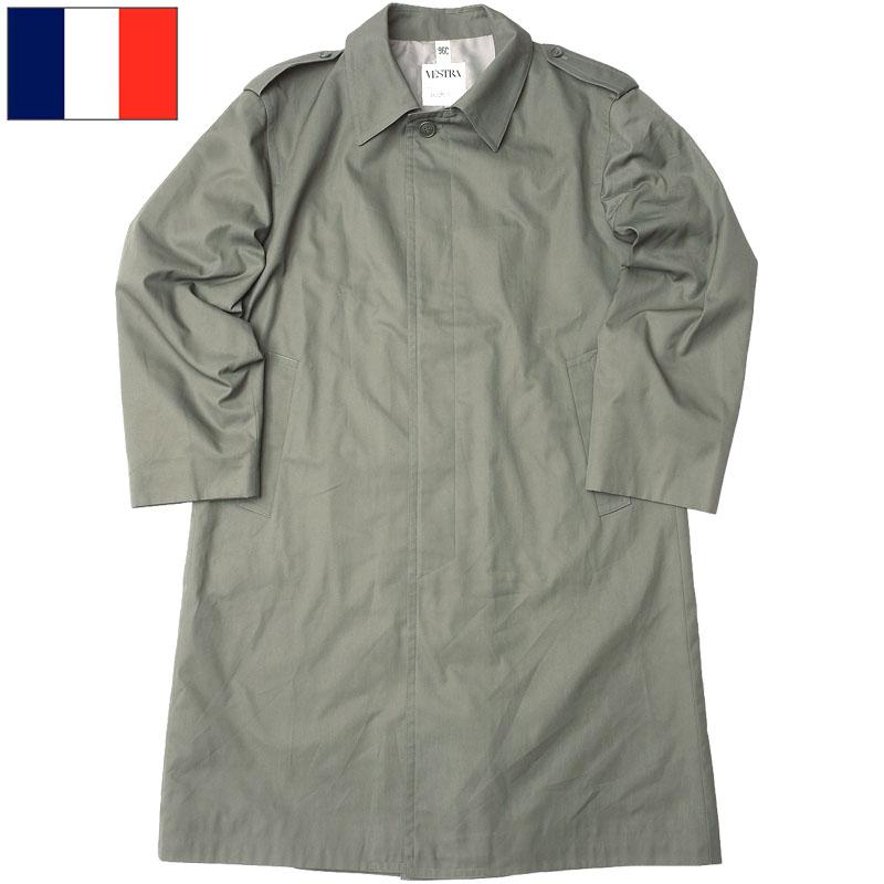 フランス軍 ステンカラーコート グレー デッドストック