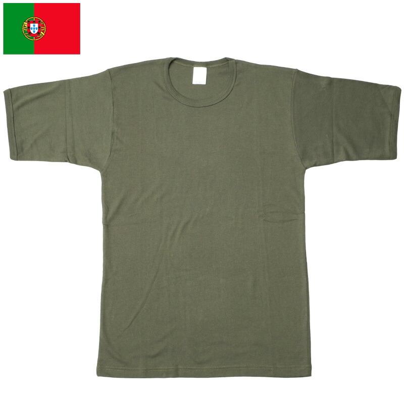 ポルトガル軍 コットン 半袖Tシャツ オリーブ デッドストック