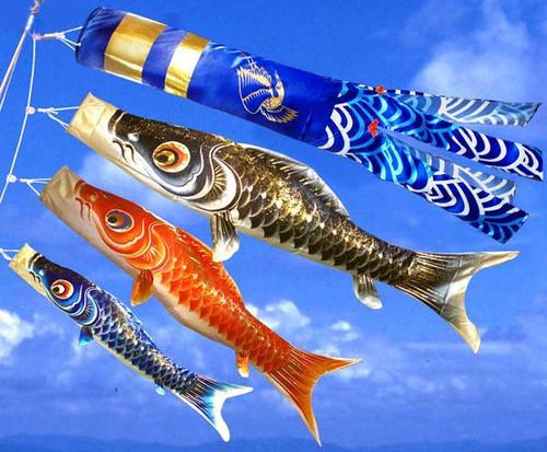 【鯉のぼり】1.5m勢雅鯉オリジナル吹流し【ベランダセット】【送料無料】