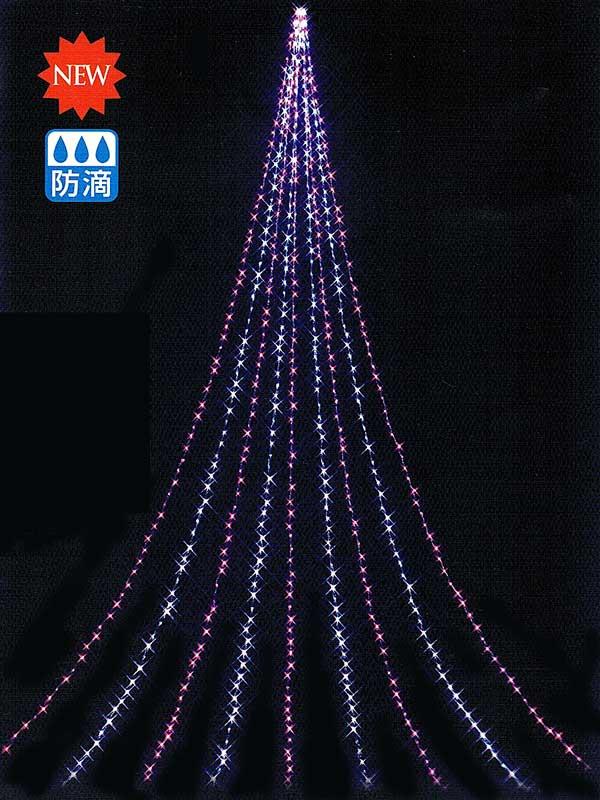 10m 光り流れるナイアガラライト