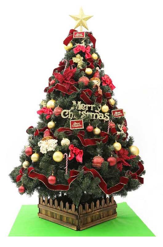 山本人形オリジナルクリスマスツリーセット装飾品付