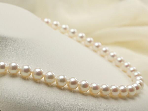 【真珠の本場 伊勢志摩よりお届け】淡い優しいピンク♪8.5~9.0mmあこや本真珠ネックレス