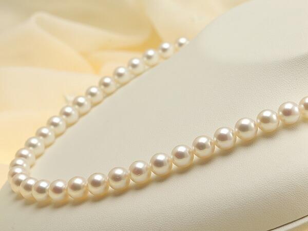 【真珠の本場 伊勢志摩よりお届け】優しいピンクが魅力♪8.0-8.5mmあこや本真珠準花珠ネックレス(鑑別書付)【39267】