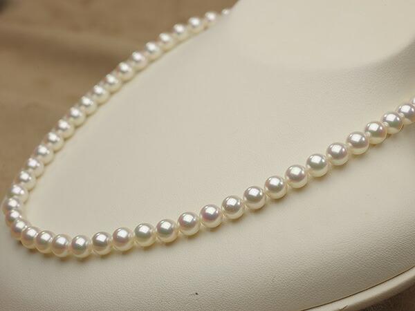 【真珠の本場 伊勢志摩よりお届け】華やかな色目が魅力♪6.5〜7.0mmあこや本真珠ネックレス【nc0046】