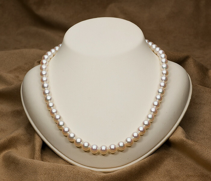 【真珠の本場 伊勢志摩よりお届け】8.0〜8.5mm あこや本真珠ネックレス