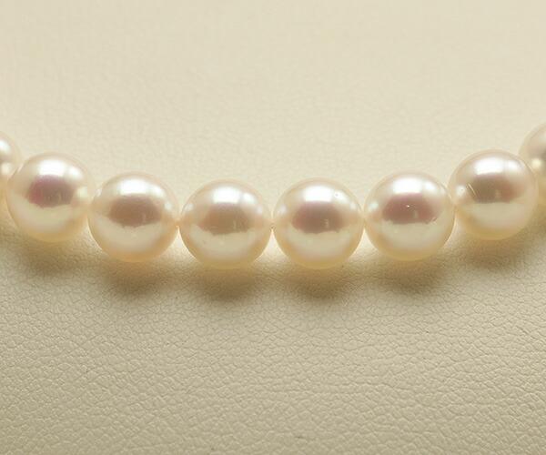 【真珠の本場 伊勢志摩よりお届け】華やかピンクが美しい♪6.5〜7.0mmあこや本真珠 パールネックレス【nc0394】(センターアップ)