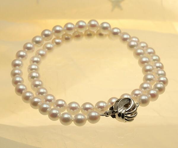 【真珠の本場 伊勢志摩よりお届け】華やかピンクが美しい♪6.5〜7.0mmあこや本真珠ネックレス【nc0394】(全体アップ)