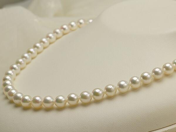 【真珠の本場 伊勢志摩よりお届け】干渉色が美しい♪7.5〜8.0mmあこや本真珠パールネックレス【nc0807】