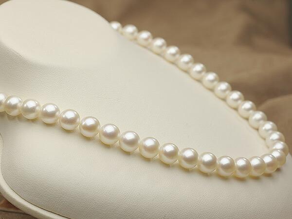 【真珠の本場 伊勢志摩よりお届け】8.5-9.0mm優しいピンクの色目♪あこや本真珠パールネックレス【nc0840】