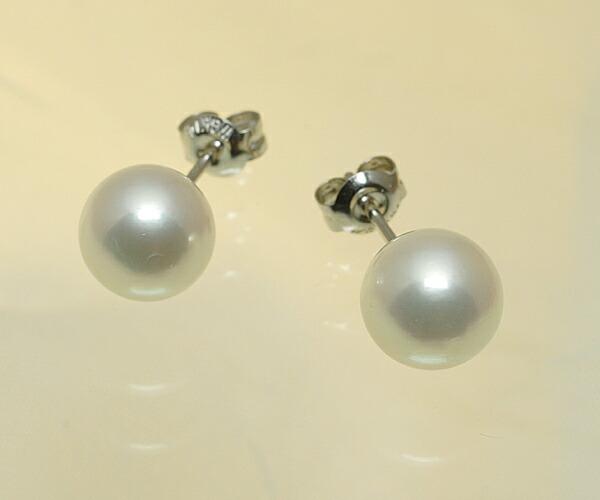 【真珠の本場 伊勢志摩よりお届け】柔らかなピンクが魅力的♪8.0mmあこや本真珠ピアス【n1096】