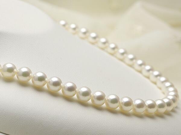 【真珠の本場 伊勢志摩よりお届け】8.0〜8.5mmあこや本真珠花珠ネックレス(鑑別書付)【MM00048681】