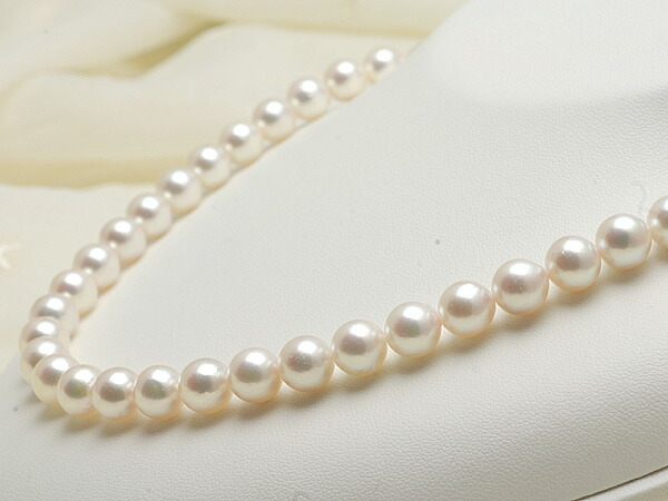 【真珠の本場 伊勢志摩よりお届け】華やかピンクパール♪8.5~9.0mmあこや本真珠ネックレス