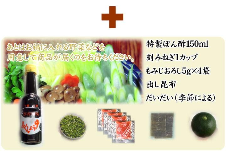 こだわり商品内容−ぽん酢+薬味